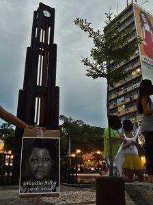 A trabalhadora Cláudia Silva foi uma das mulheres lembradas durante a agitação.