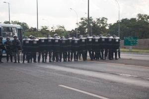 Batalhão de Choque no Eixão Sul