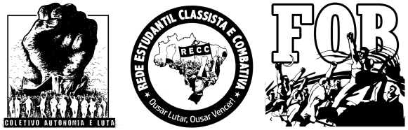 Coletivo Autonomia e Luta UFPI Rede Estudantil Classista e Combativa RECC Fórum de Oposições pela Base FOB Parnaíba Piauí.png