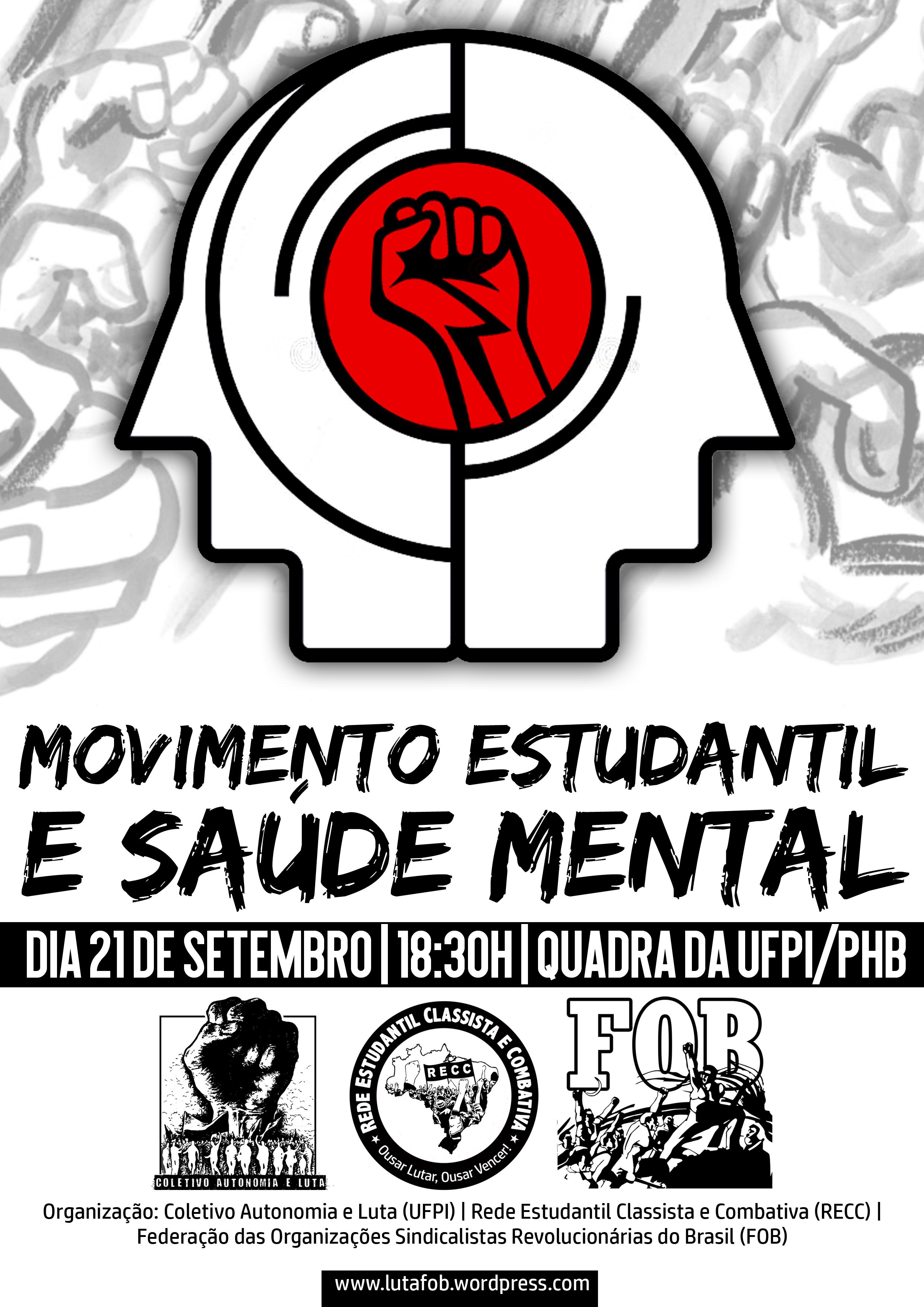 movimento estudantil e saúde mental parnaíba piauí coletivo autonomia e luta rede estudantil classista e combativa federação das orgainzações sindicalistas revolucionárias do brasil CAL RECC FOB.png